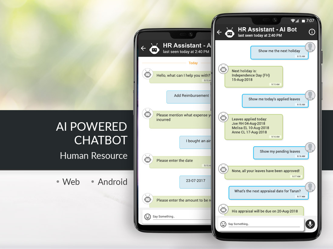 AI Powered Bot Integrated with HRMS