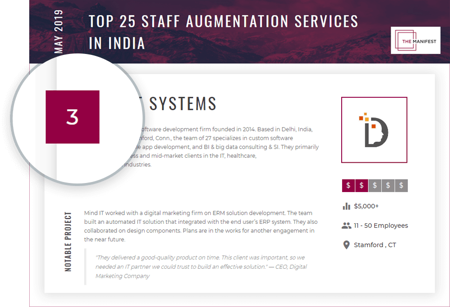 Top 25 Staff Augmentation Service Providers in India